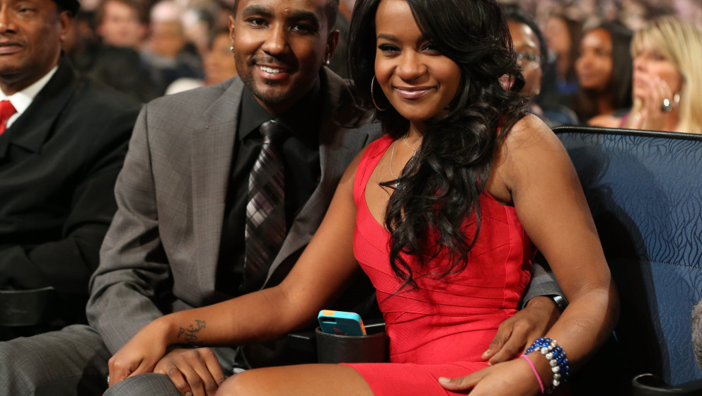 LOS ANGELES, CA - OCTOBER 11:  Nick Gordon and Bobbi Kristina Brown attend 'We Will Always Love You: A GRAMMY Salute to Whitn