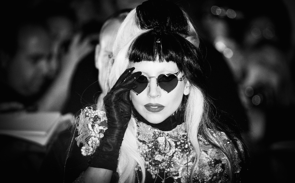 US singer Lady Gaga leaves the set of Canal Plus TV show  'Le grand journal' during the 64th Cannes Film Festival on May 11,