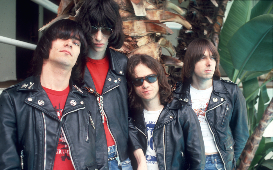 SANTA MONICA - AUGUST 1976: (L-R) Dee Dee Ramone, Joey Ramone, Tommy Ramone and Johnny Ramone of the rock and roll band 'The