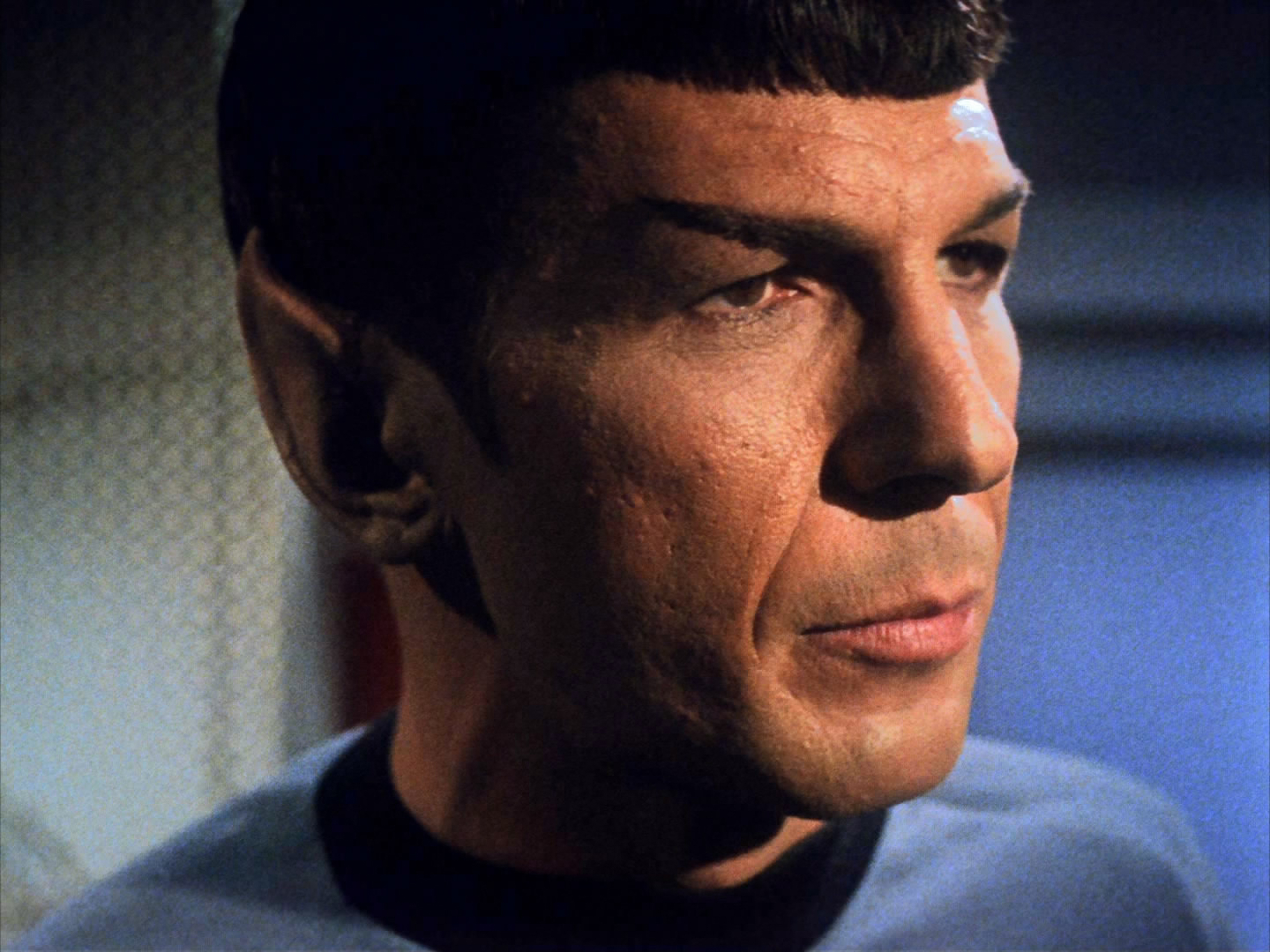 LOS ANGELES - OCTOBER 20: Leonard Nimoy as Mr. Spock in the STAR TREK: THE ORIGINAL SERIES episode, 'What Are Little Girls Ma
