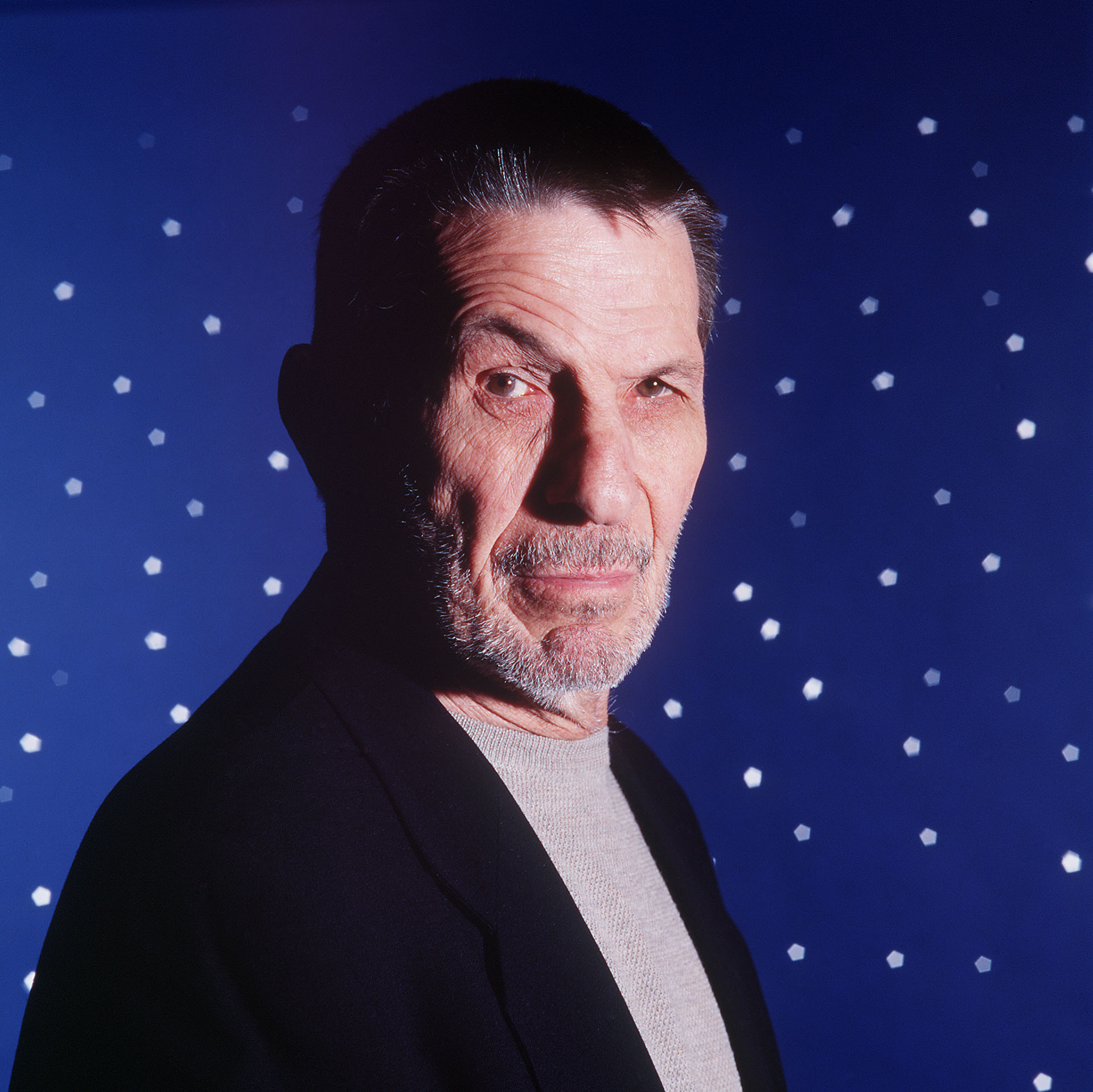 Actor Leonard Nimoy poses for a photograph in New York City on April 28, 1999. Photo by Todd Plitt/ImageDirect*** SPECIAL RAT