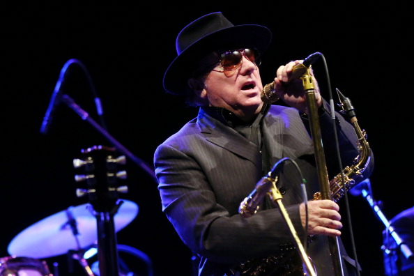 Irish blues and rock singer Van Morrison performs on the stage of the Olympia concert hall in Paris, on September 14, 2012. A