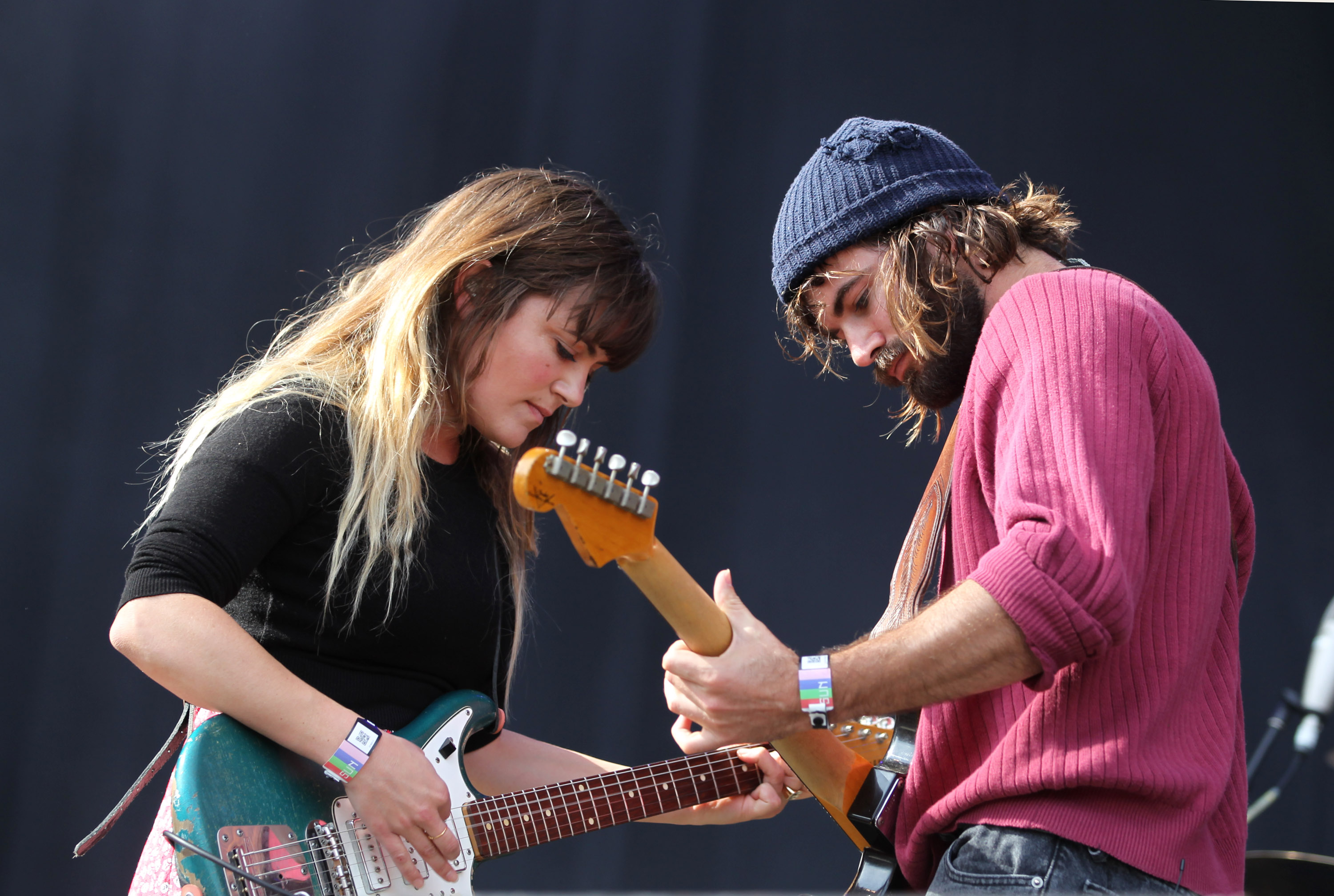 HILVARENBEEK, NETHERLANDS - JUNE 22:  (L-R) Julia Stone and Angus Stone of Angus and Julia Stone perform at day three of Best