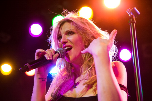 WEST HOLLYWOOD, CA - DECEMBER 31:  Vocalist Courtney Love performs with Camp Freddy at The Roxy Theatre on December 31, 2013