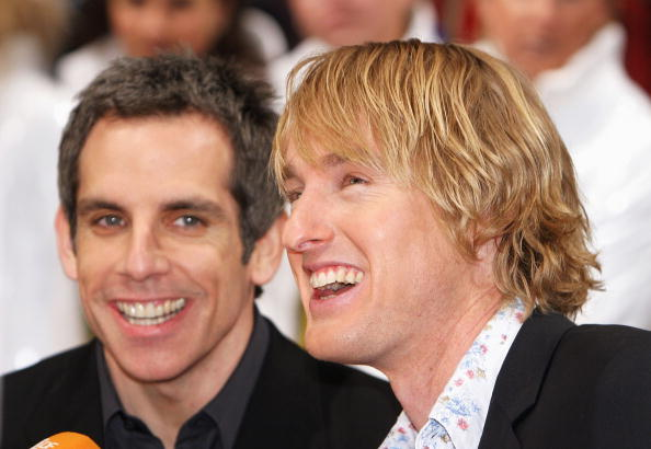 MUNICH - MARCH 9:  Actors Owen Wilson and Ben Stiller attend the European premiere of 'Starsky And Hutch' on March 9, 2004 in