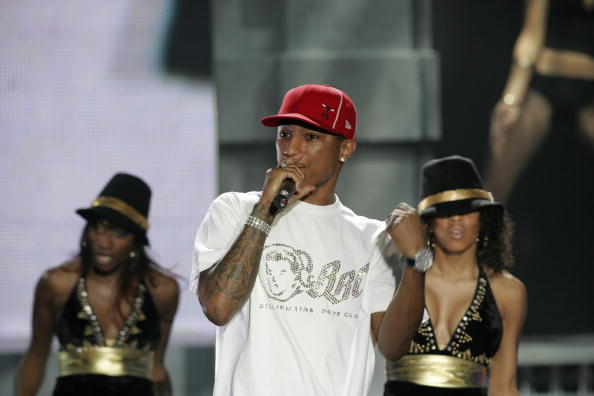 UNITED KINGDOM - FEBRUARY 09:  BRIT AWARDS, EARLS COURT  Photo of Pharrell WILLIAMS  (Photo by JMEnternational/Redferns)