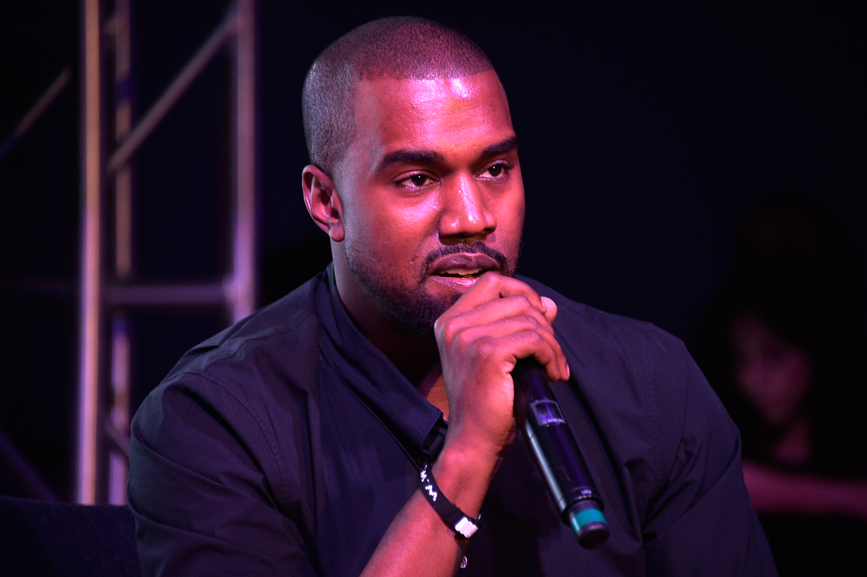 MIAMI, FL - DECEMBER 05:  Kanye West speaks at Surface Magazine's DesignDialogues No. 6 With Hans Ulrich Obrist, Kanye West A