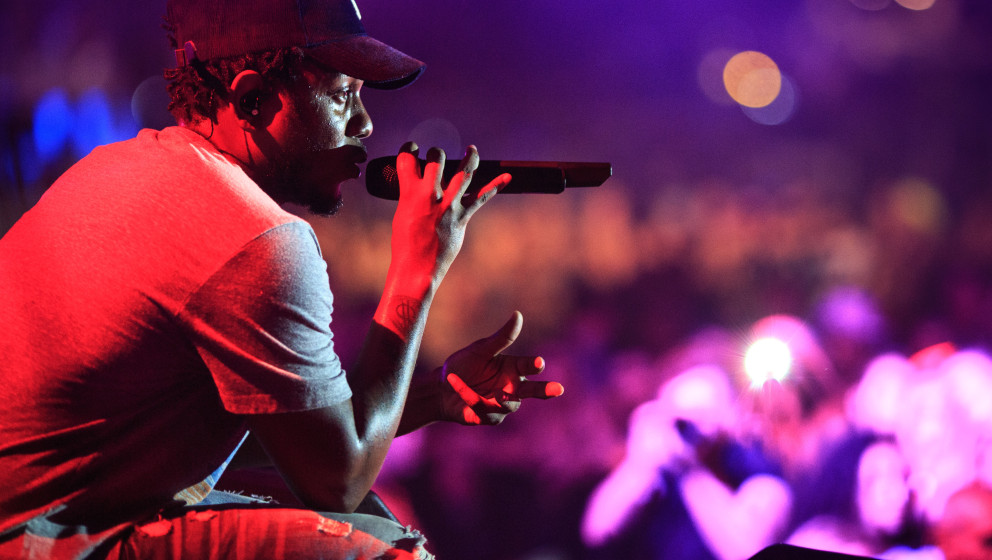 FAJARDO, CA - NOVEMBER 01:  Kendrick Lamar performs during the Bacardi Triangle event on November 1, 2014 in Fajardo, Puerto