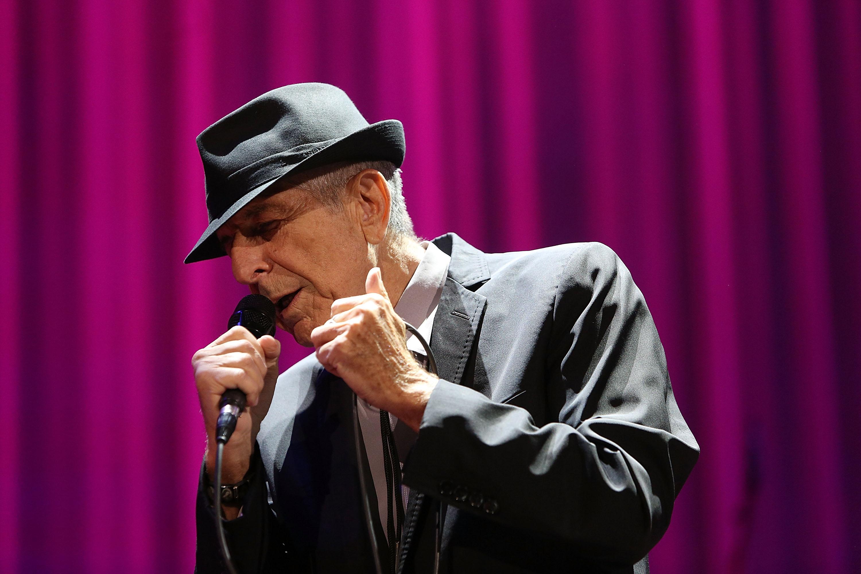 MELBOURNE, AUSTRALIA - NOVEMBER 20:  Leonard Cohen performs live for fans at Rod Laver Arena on November 20, 2013 in Melbourn