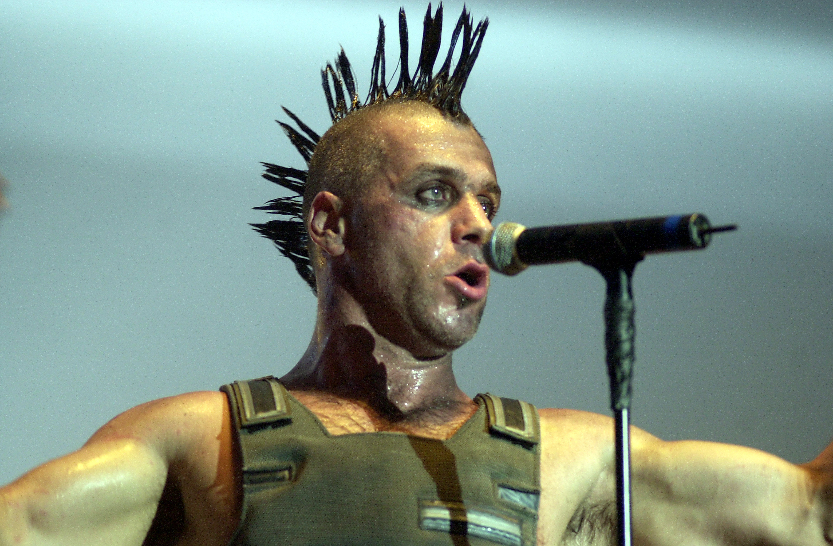 AMSTERDAM, NETHERLANDS - DECEMBER 03: Till Lindemann from Rammstein performs live at Heineken Music Hall in Amsterdam, Nether