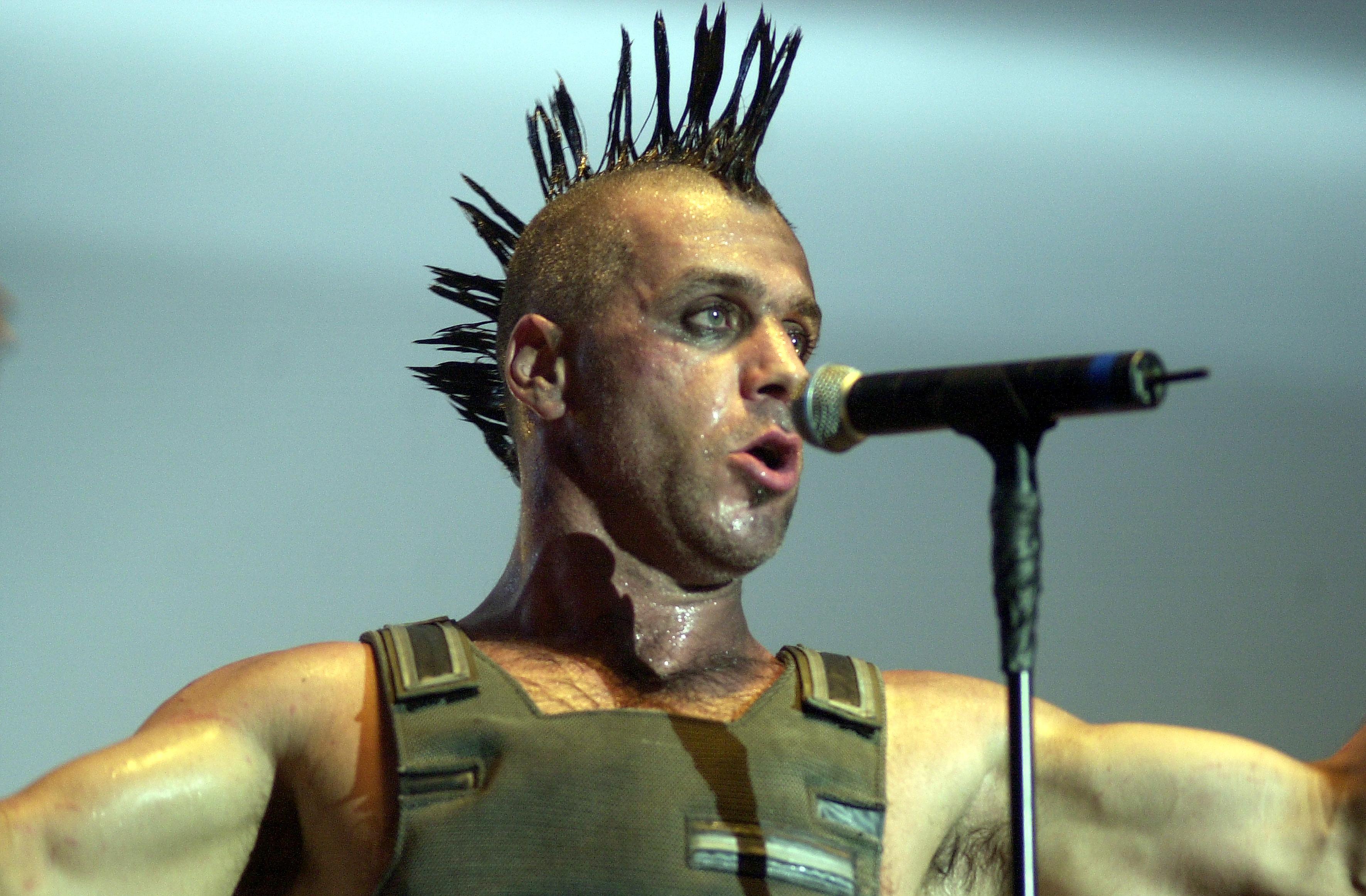 AMSTERDAM, NETHERLANDS - DECEMBER 03: Till Lindemann from Rammstein performs live at Heineken Music Hall in Amsterdam, Nether