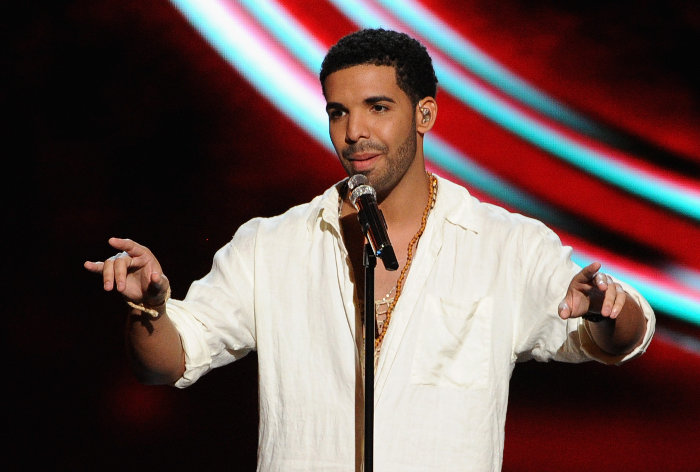 LOS ANGELES, CA - JULY 16:  Host Drake performs onstage during the 2014 ESPYS at Nokia Theatre L.A. Live on July 16, 2014 in
