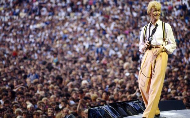 David Bowie während seiner 'Serious Moonlight' Tour 1983.