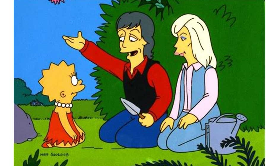 THE SIMPSONS: Lisa and guest stars Paul and Linda McCartney in the 'Lisa The Vegetarian' episode of THE SIMPSONS on FOX.  ª�