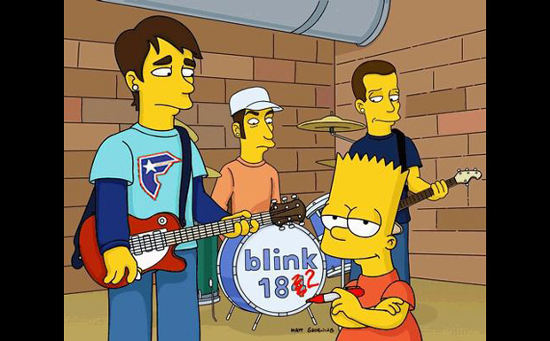 Blink 182 bei den Simpsons
