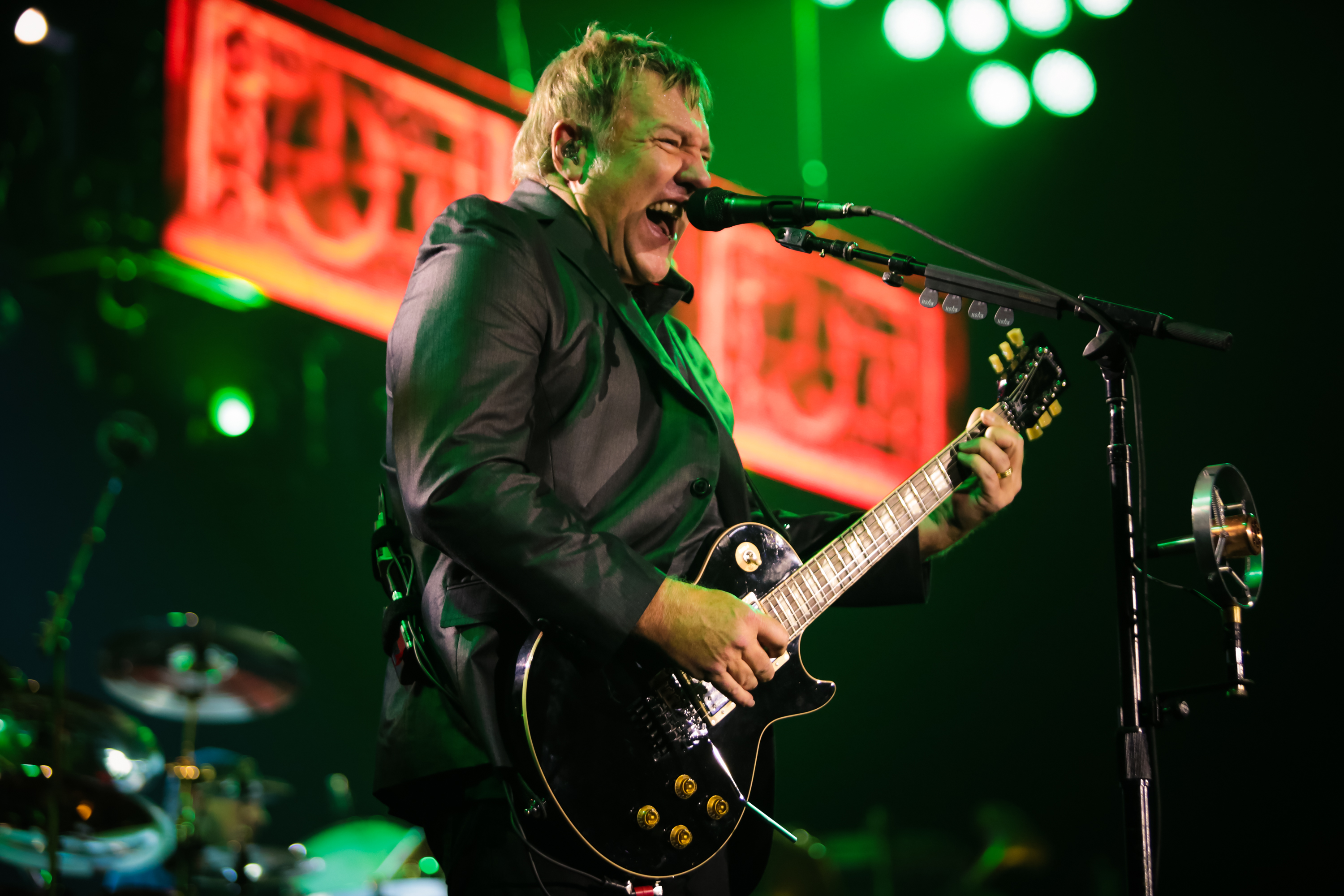 LONDON, UNITED KINGDOM - MAY 24: Alex Lifeson of Rush performs on stage at O2 Arena on May 24, 2013 in London, England. (Phot