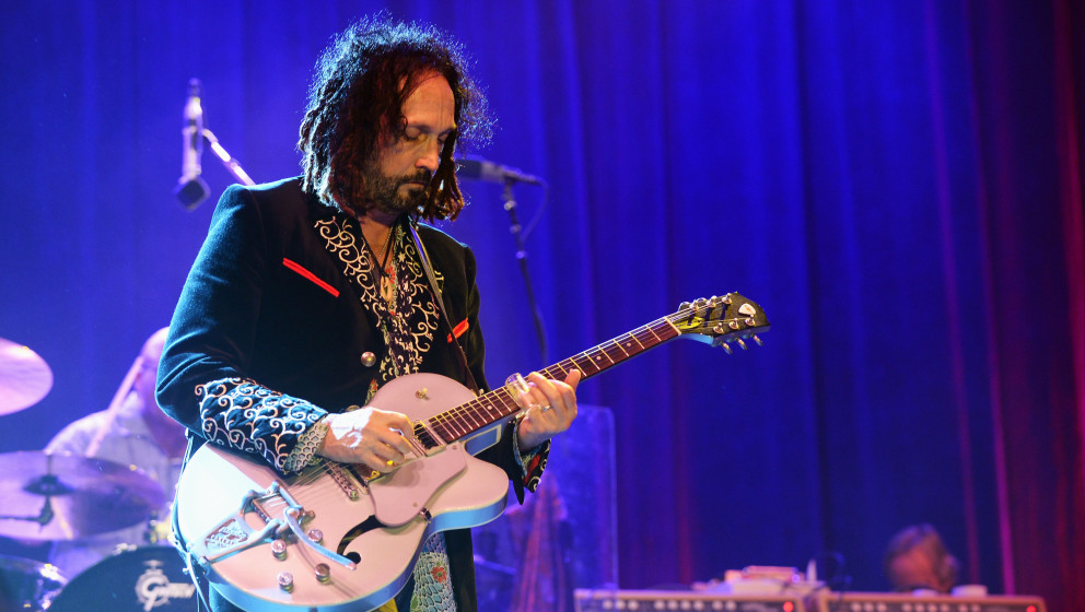 DOVER, DE - JUNE 22:  Mike Campbell of Tom Petty & The Heartbreakers performs onstage at the Firefly Music Festival at Th