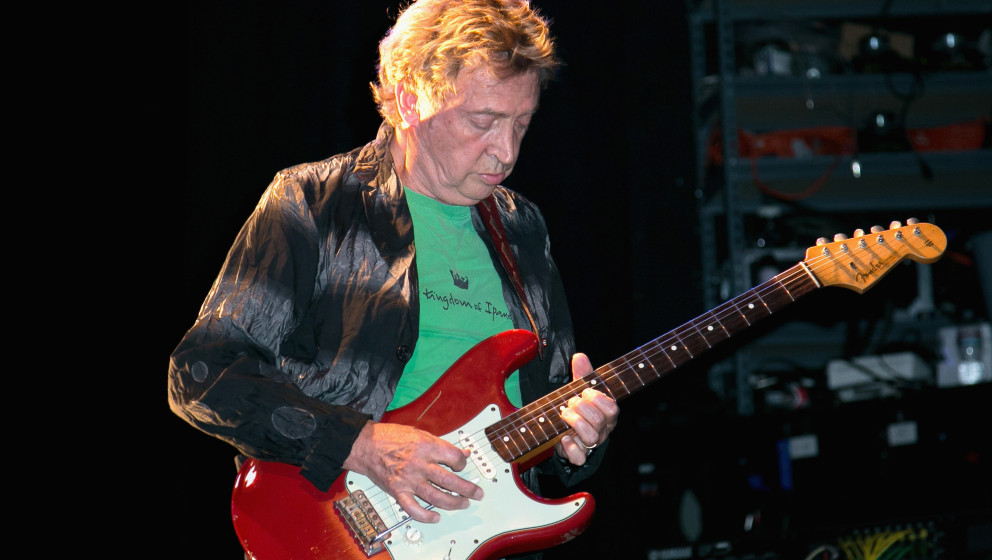 LOS ANGELES, CA - JULY 25:  Guitarist Andy Summers of Circa Zero performs at Circa Zero's first live performance at the El Re