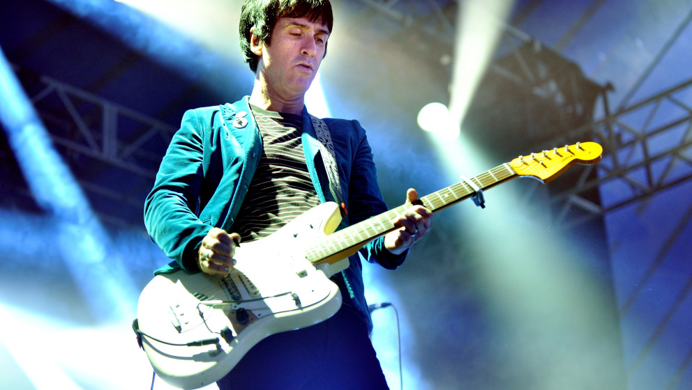 LEEDS, ENGLAND - AUGUST 25:  Johnny Marr performs at Day 3 of the Leeds Festival at Bramham Park on August 25, 2013 in Leeds,