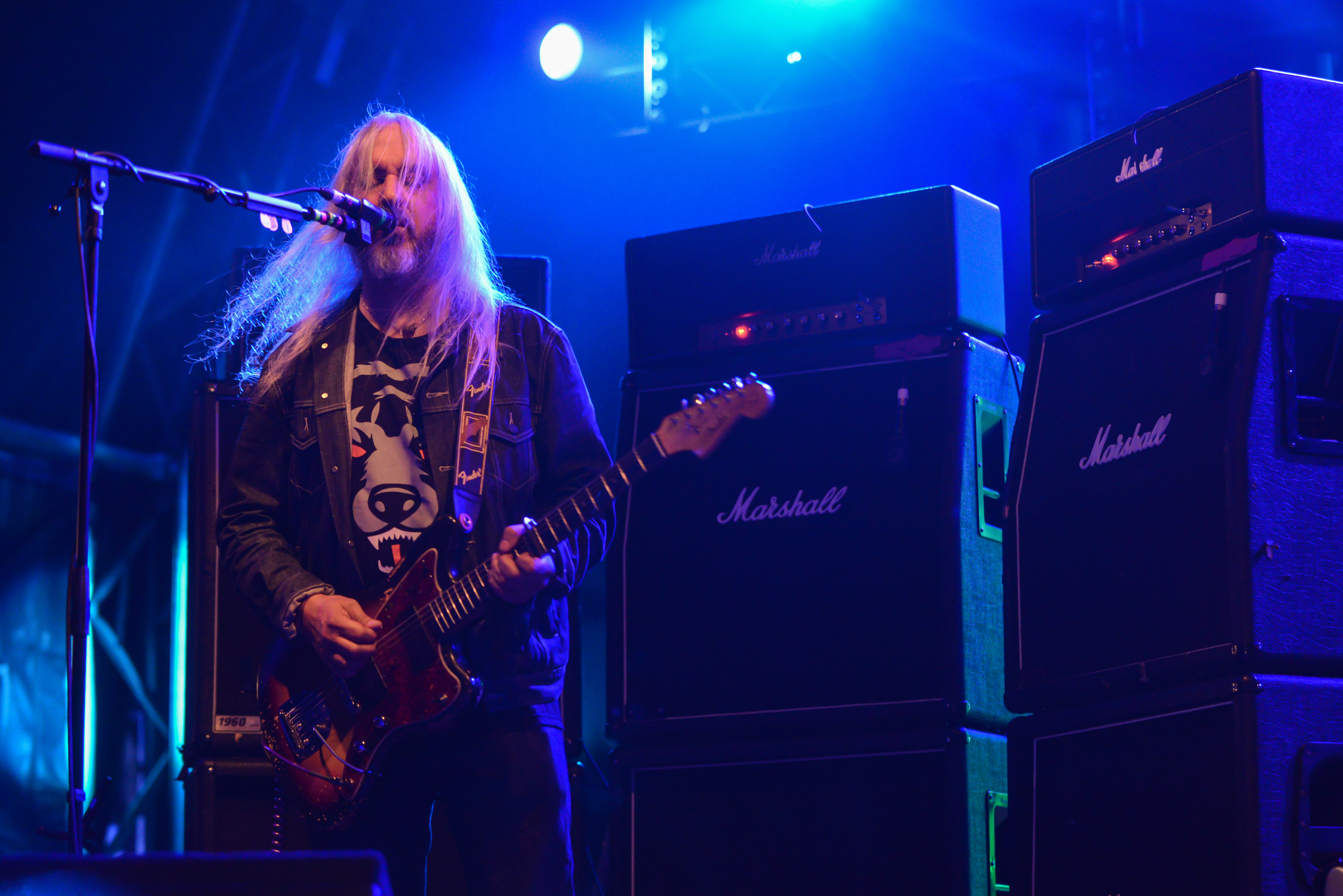SALISBURY, ENGLAND - SEPTEMBER 01:  J Mascis of the band Dinosaur Jr. performs on stage on Day 3 of End Of The Road Festival