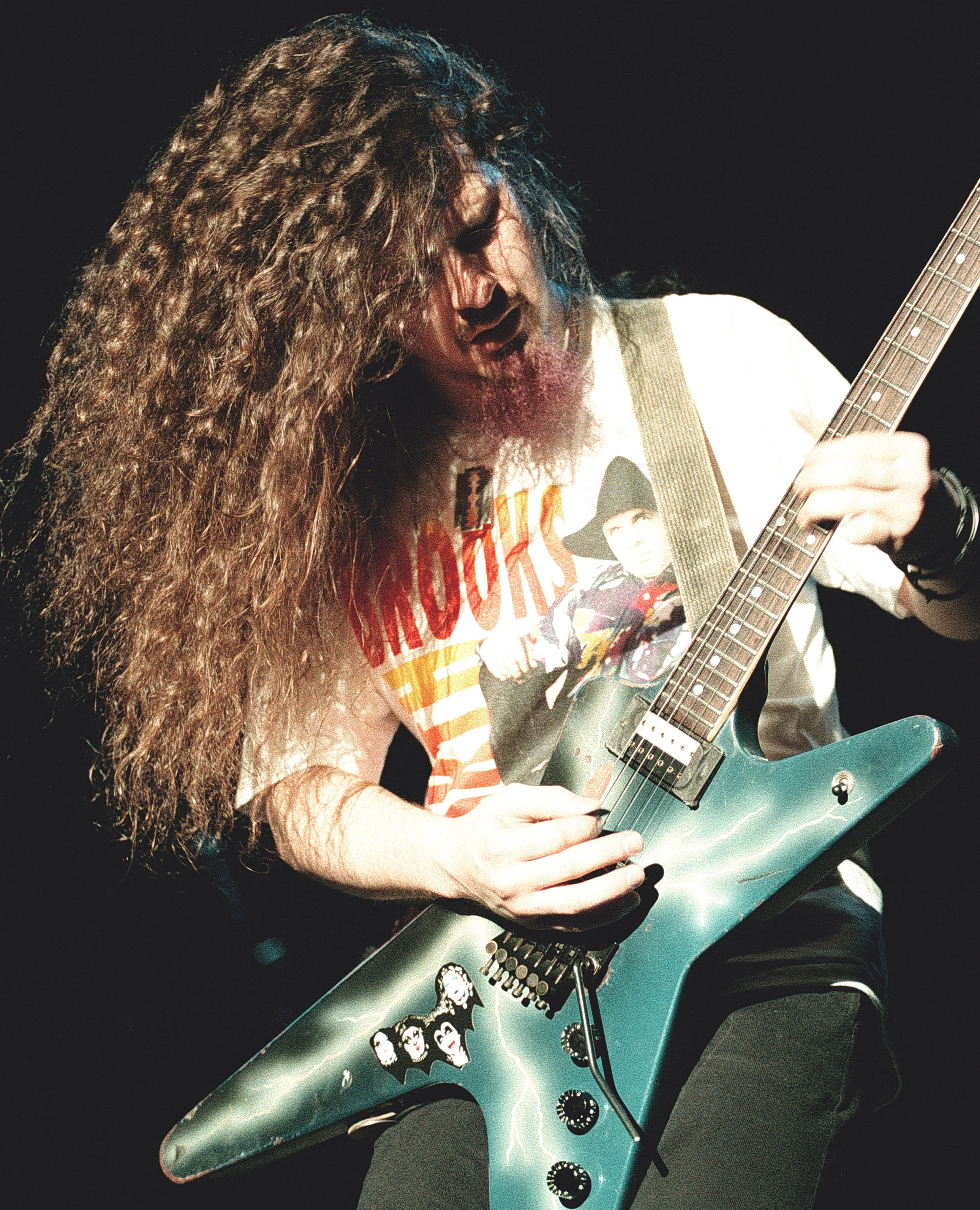 Diamond 'Dimebag' Darrell, of Pantera, performing at San Jose Event Center in San Jose, Calif. on March 10th 1992 Image By: T
