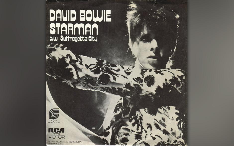 """7. Starman.  Weltraumbote will Erdenbürger beglücken. Als Kapitel des """"Ziggy-Stardust""""-Opus lebt der Song vom Wechselsp"""