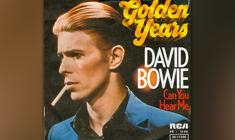 14. Golden Years.  Bowie saß in den Cherokee Studios in Hollywood am Klavier und spielte Barry Manns und Cynthia Weils Klass