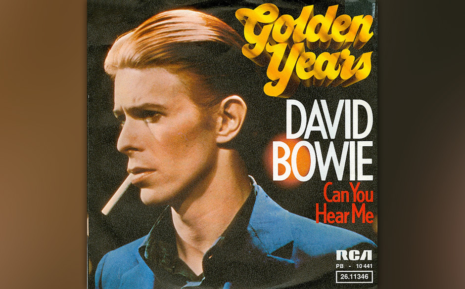 14. Golden Years.  Bowie saß in den Cherokee Studios in Hollywood am Klavier und spielte Barry Manns und Cynthia Weils Klass