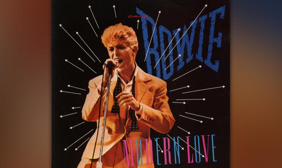 """03. Modern Love.   Als Opener von """"Let's Dance"""" war 'Modern Love' der erste kraftstrotzende Ausfallschritt Bowies in de"""