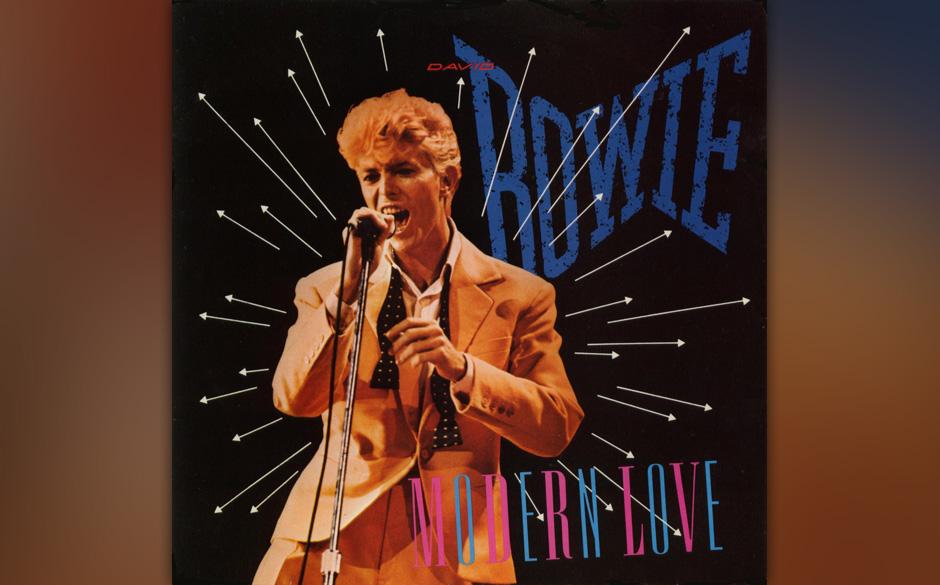 """3. Modern Love.   Als Opener von """"Let's Dance"""" war 'Modern Love' der erste kraftstrotzende Ausfallschritt Bowies in der"""
