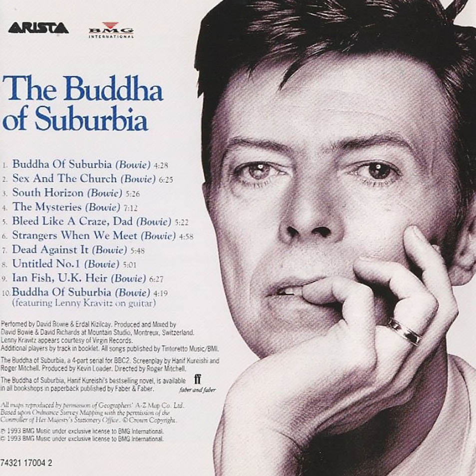 69. The Buddha Of Suburbia.  'Screaming along in South London / Vicious but ready to learn /Sometimes I fear that the whole w
