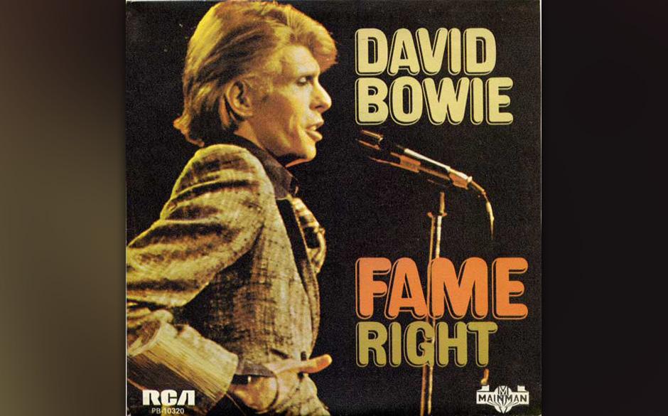 43. Fame.  Der Song entstand bei einer hochkarätig besetzten Session in den New Yorker Electric Lady Studios im Januar 1975.