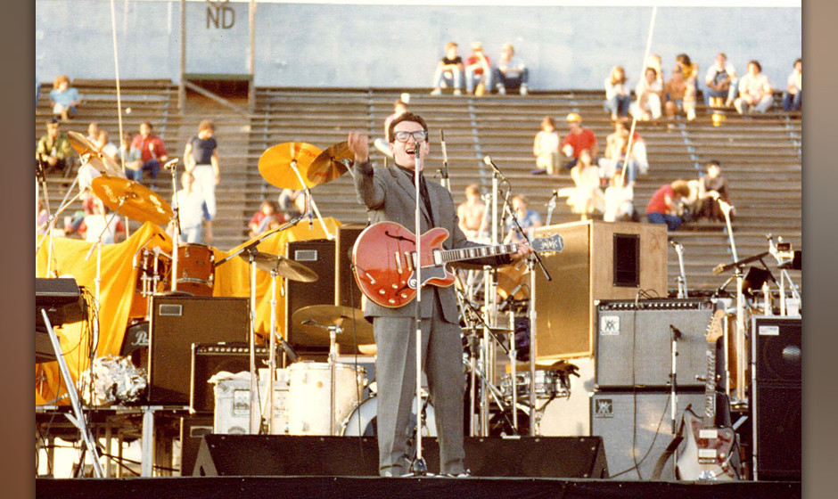 Elvis Costello and the Attractions (Photo by Jeff Kravitz/FilmMagic)