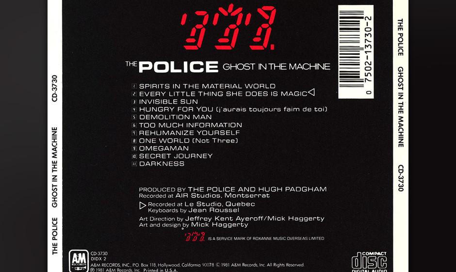21. The Police: Omegaman (aus 'Ghost In The Machine, 1981). Auf diesem Album zeigten The Police sich von ihrer politischsten