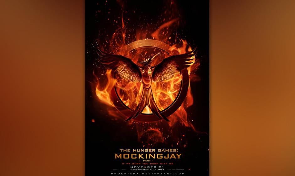 'The Hunger Games: Mockingjay Part 1'. Jennifer Lawrence spannt den Bogen in einem Überwachungsstaat voll hässlicher Perüc
