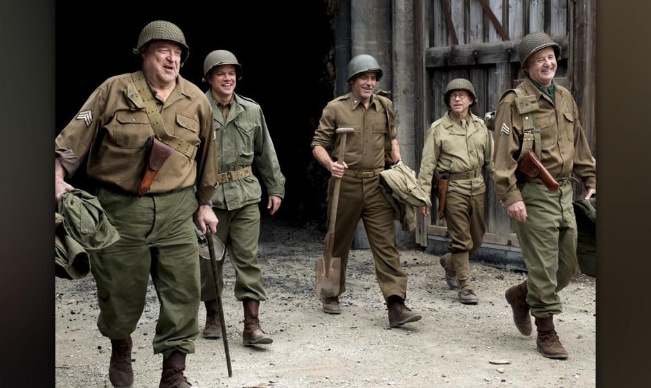 'The Monuments Men'. George Clooney führte Regie in der Verfilmung einer wahren Geschichte von US-Soldaten, die im Zweiten W