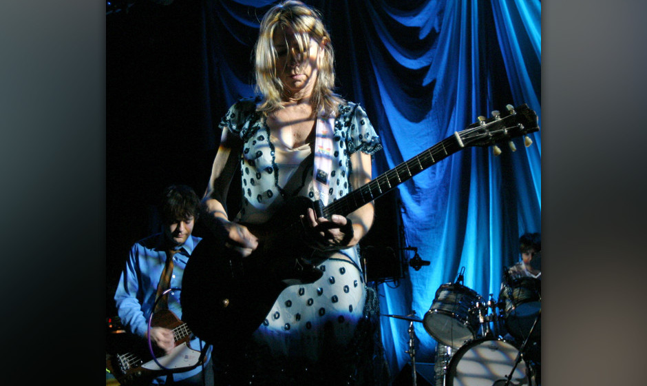 Kim Gordon of Sonic Youth during Sonic Youth Live in Concert - August 14, 2004 at Avalon Ballroom in Boston, Massachusetts, U