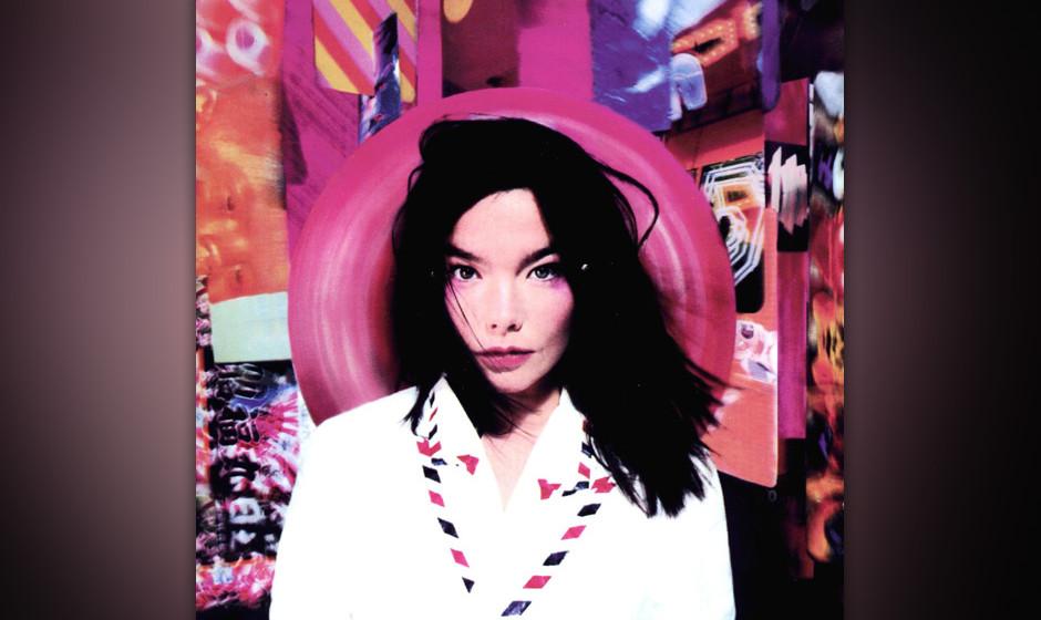 """376. Post: Björk 1995. Über ihr zweites Album sagte Björk: """"Jeden Morgen wenn ich aufstehe, muss ich das Universum neu e"""