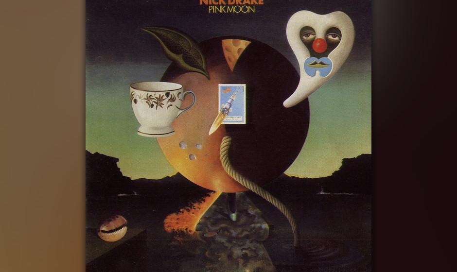 321. Pink Moon: Nick Drake, 1972. Drake nahm sein letztes Album binnen zweier Nächte auf, lieferte die Bänder bei Island Re