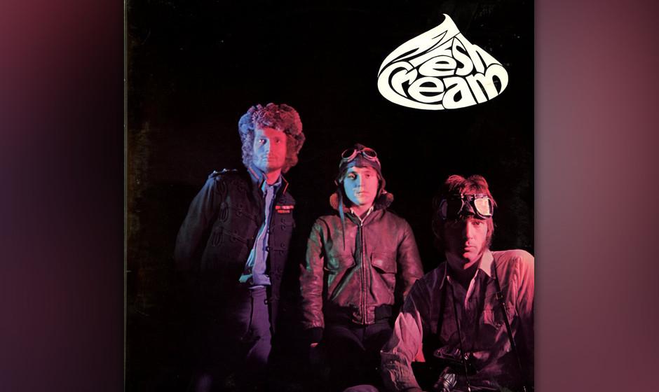 """102. Cream - Fresh Cream, 1966 Bassist Jack Bruce, Drummer Ginger Baker und Gitarrist Eric Clapton – die erste """"Supergrou"""