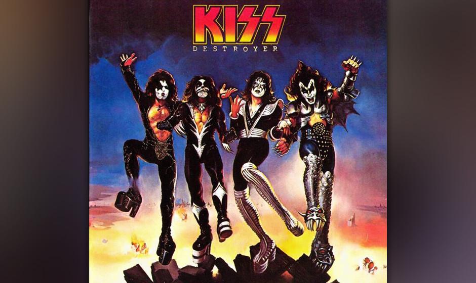 489. Destroyer: Kiss (1976). Als ihr fünftes Album auf den Markt kam, waren Kiss die populärste Band Amerikas, ausverkaufte