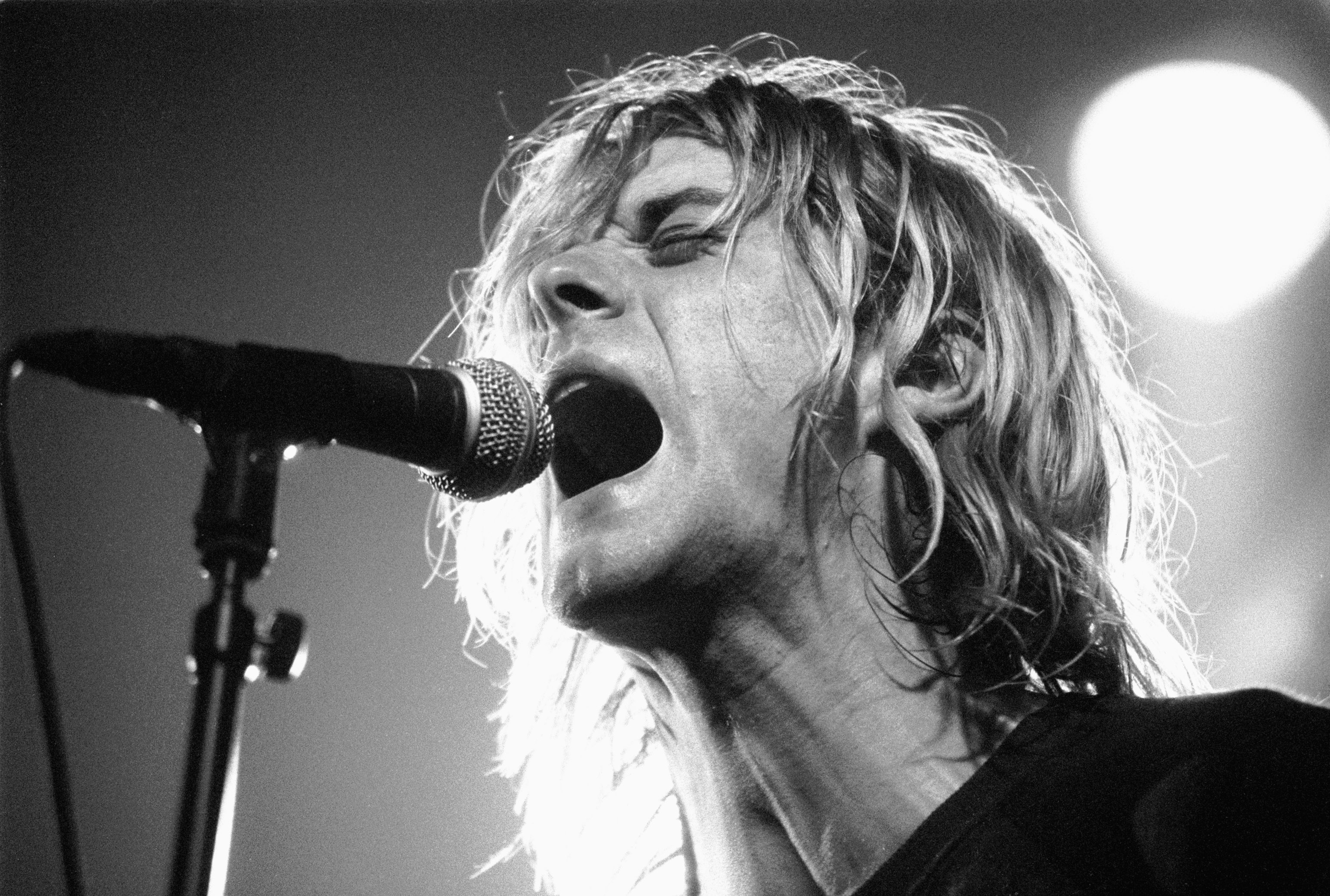 AMSTERDAM, NETHERLANDS - NOVEMBER 25: Kurt Cobain from Nirvana performs live on stage at Paradiso in Amsterdam, Netherlands o