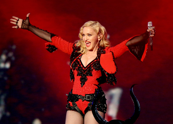 LOS ANGELES, CA - FEBRUARY 08:  Singer/songwriter Madonna performs onstage during The 57th Annual GRAMMY Awards at STAPLES Ce