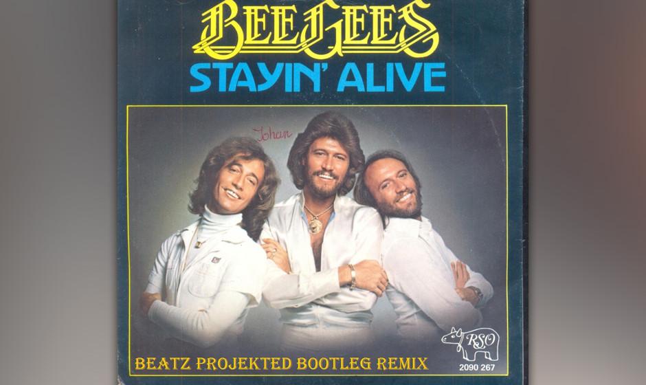 191. The Bee Gees - Stayin' Alive Dieser Disco-Klassiker entstand, als Robert Stigwood einen Artikel über die Club-Szene i