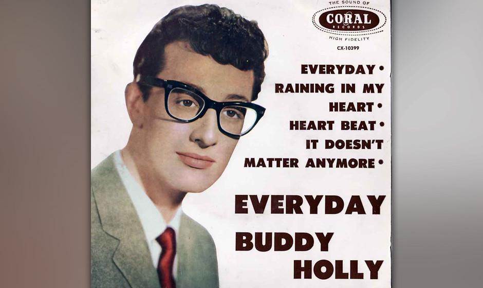 """238. Buddy Holly and the Crickets – Everyday Auf der Rückseite von """"Peggy Sue"""" hört man sonst selten zum Einsatz komm"""