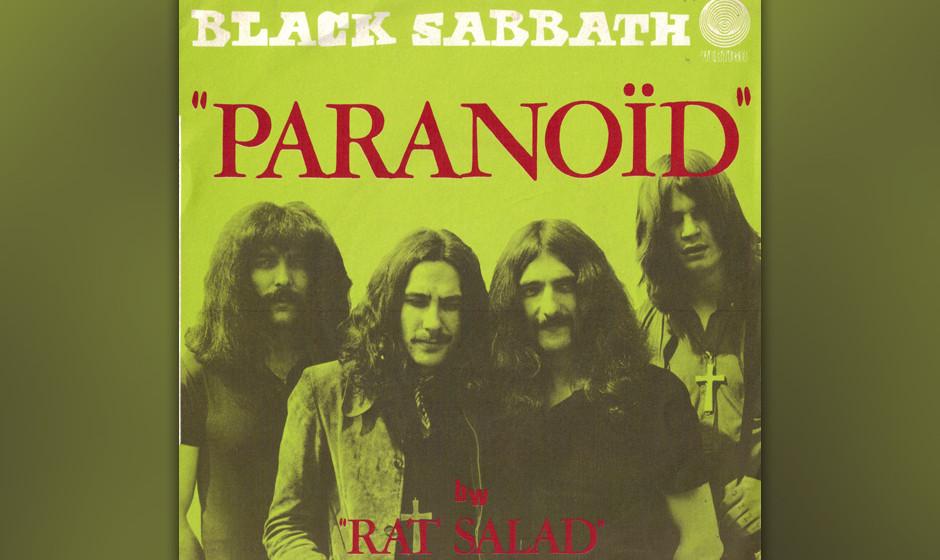 253. Black Sabbath – Paranoid Nach Sabbaths erster US-Tour verzog sich Gitarrist Tony Iommi ins Londoner Regent Studio, um
