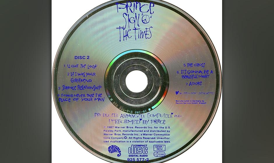 304. Prince  - Sign o' The Times Als Prince sich von seiner langjährigen Backing-Band The Revolution trennte, gab er auch