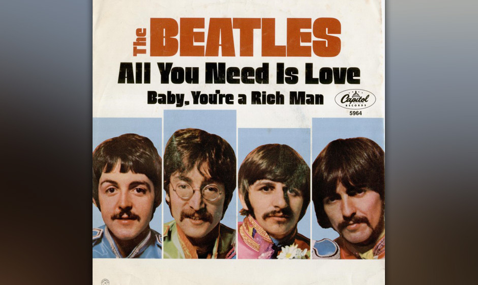 "370. 'All You Need Is Love - The Beatles (J. Lennon, P. McCartney) Drei Wochen nach Veröffentlichung von ""Sgt. Pepper"" v"