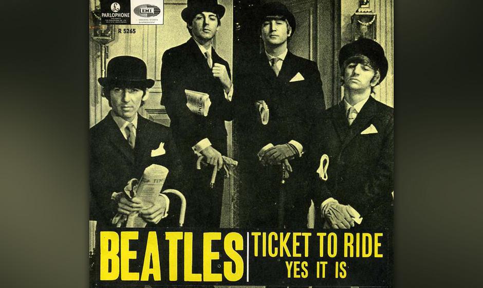 394. 'Ticket To Ride' - The Beatles (J. Lennon, P. McCartney) Zu welchem Ziel der Fahrschein gelöst wurde, ließ sich im Nac