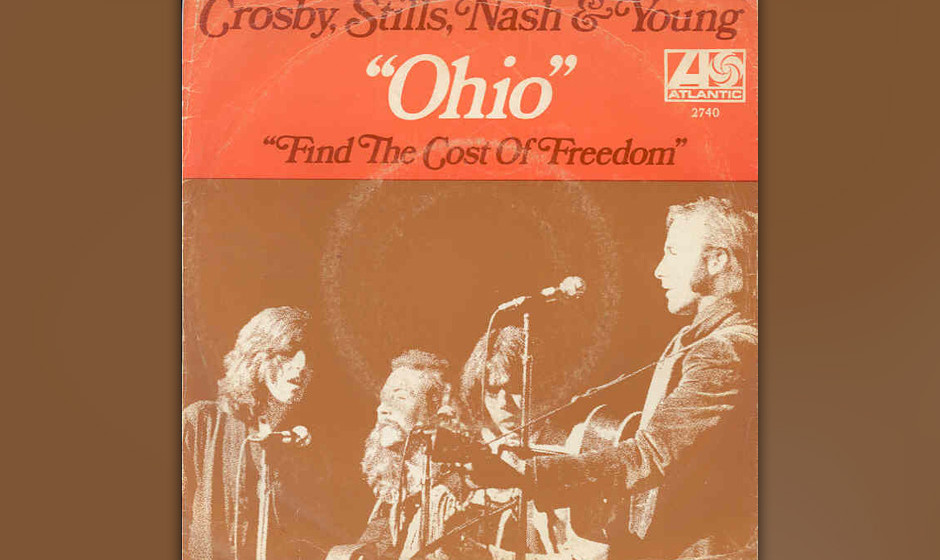 395. 'Ohio' - Crosby, Stills, Nash & Young (N. Young) Am 4. Mai '70 wurden in Ohio vier demonstrierende Studenten von der P
